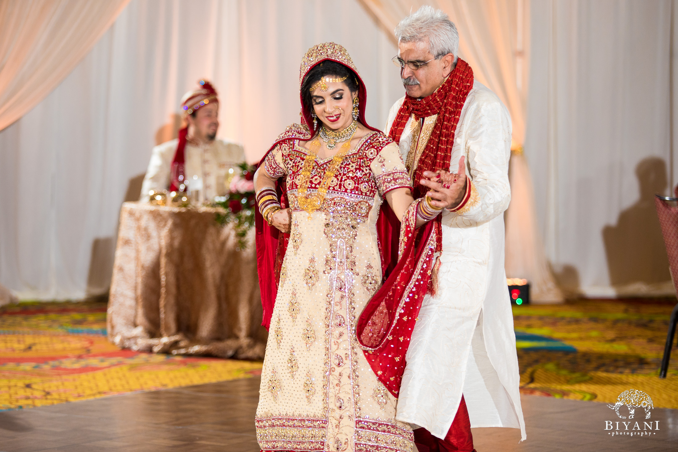 Father daughter dance at Indian fusion wedding reception party