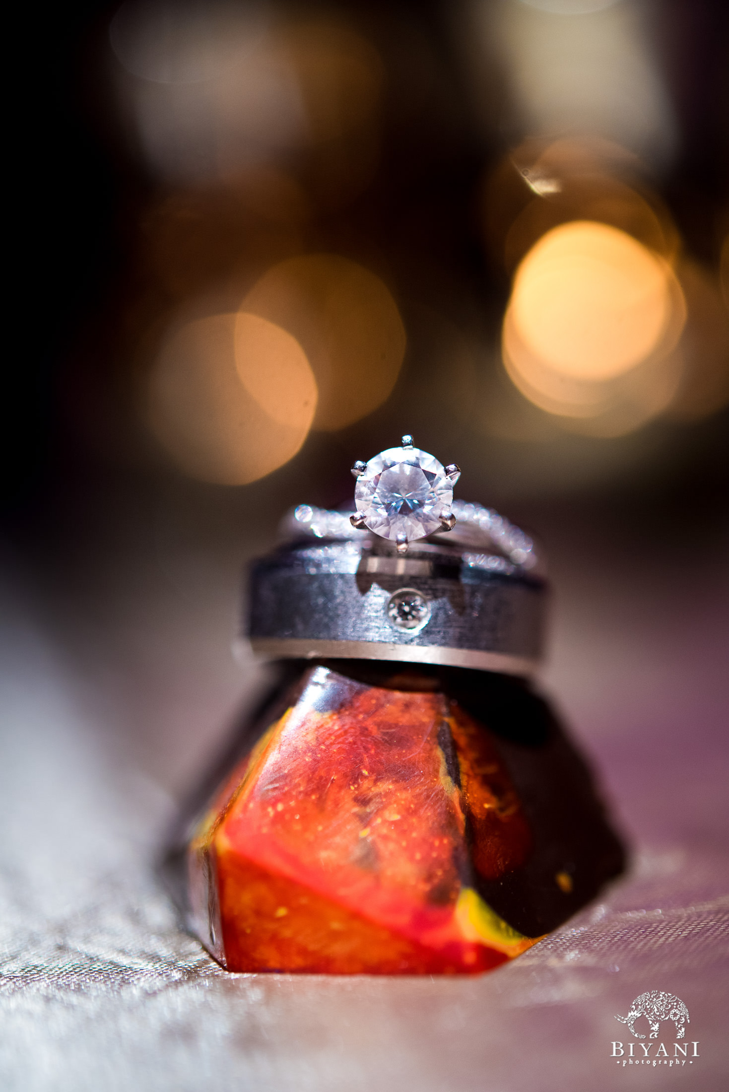 Indian Fusion Wedding Rings photography