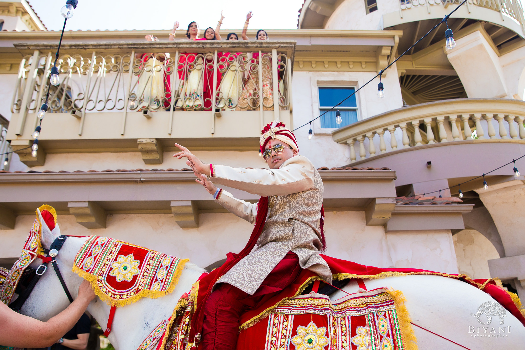 Indian Wedding Baraat groom