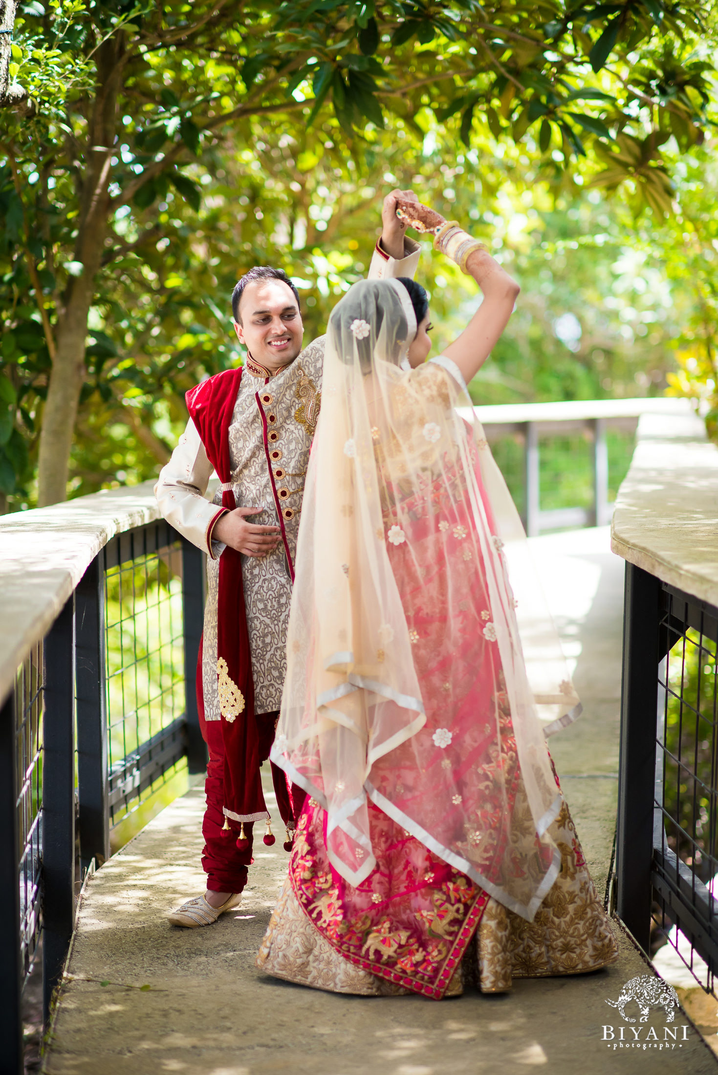 Indian Wedding Bride and Groom Portraits