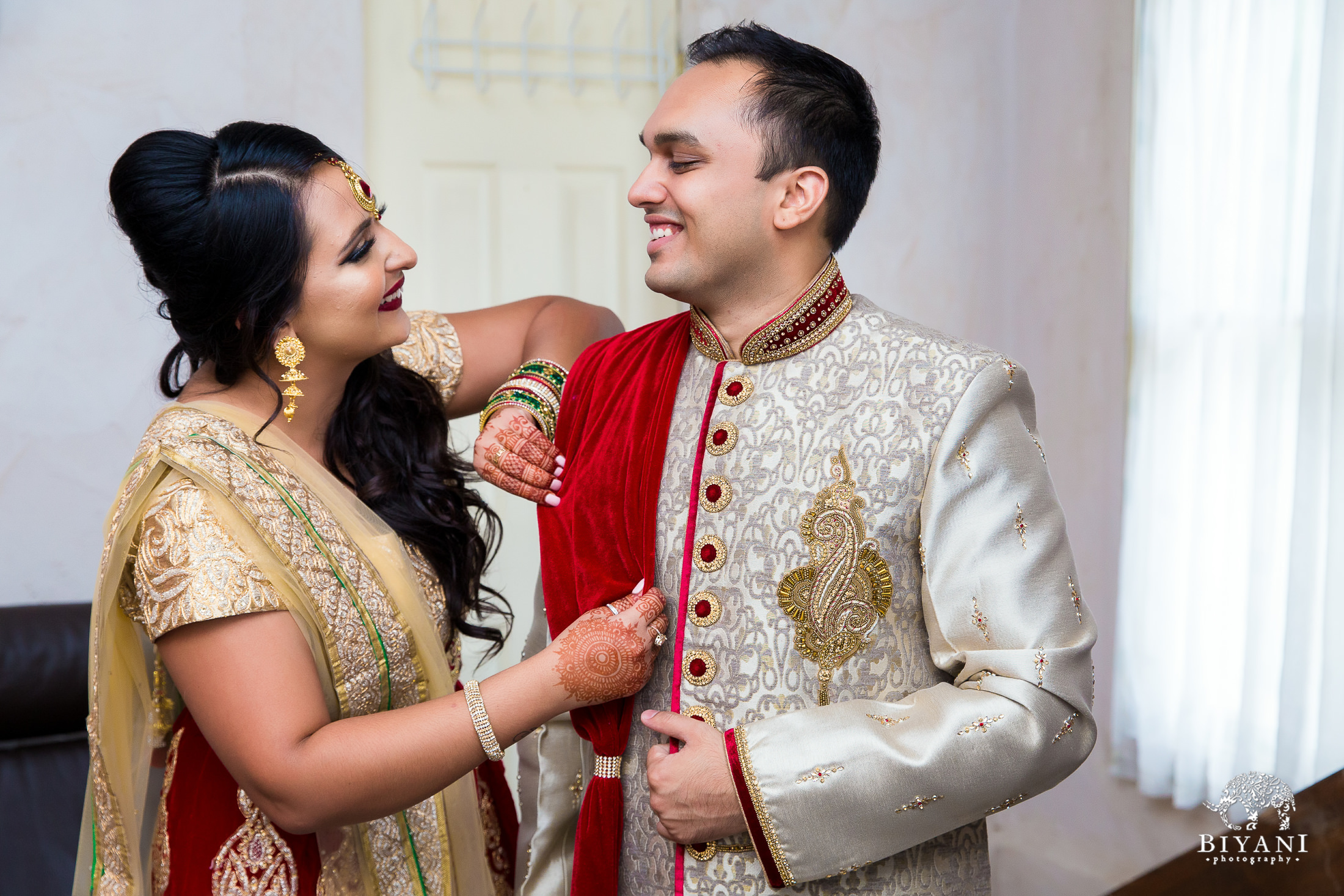 Indian groom and sibling photo