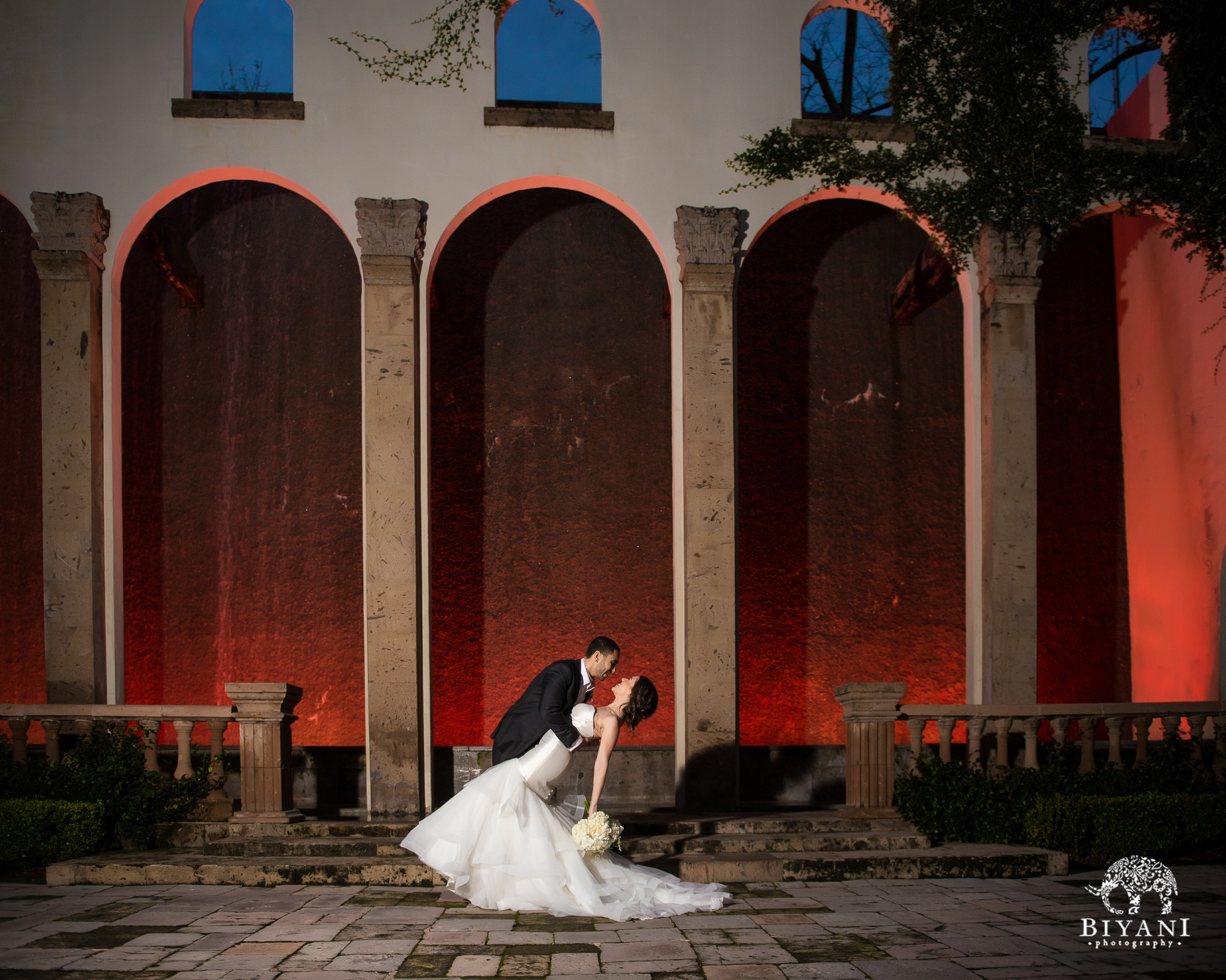 Wedding Couple Portraits outside Houston, TX Bell Tower venue