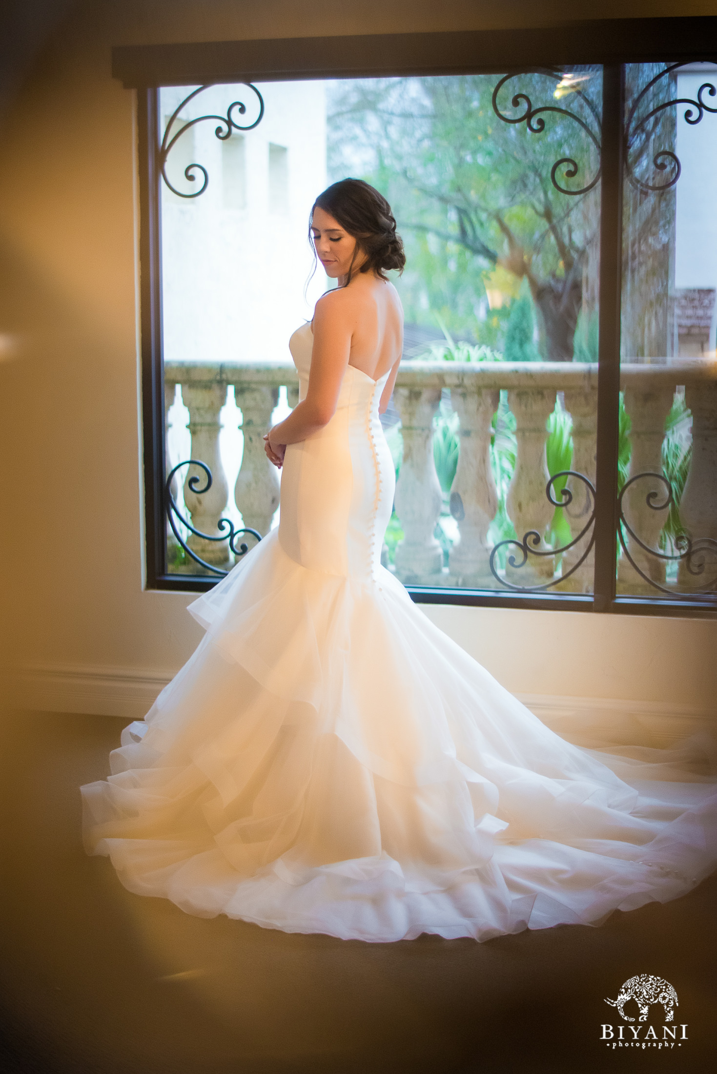 Bride's wedding dress portraits