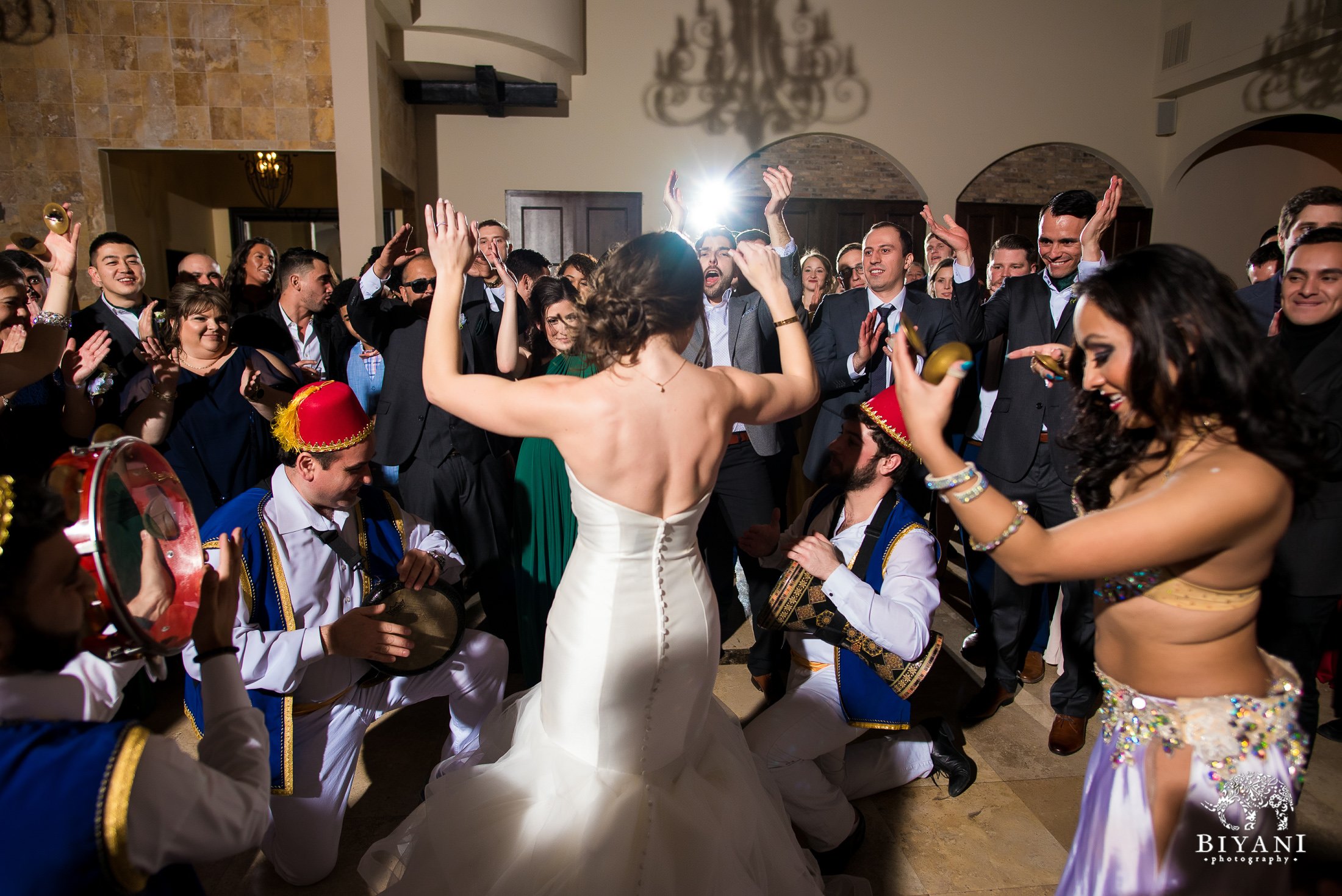 Houston Fusion Egyptian Wedding Reception Bride dancing