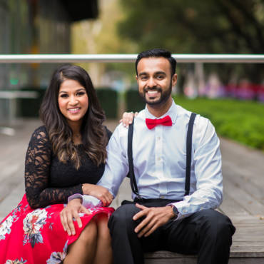 Downtown Houston Sri Lankan Engagement Photos