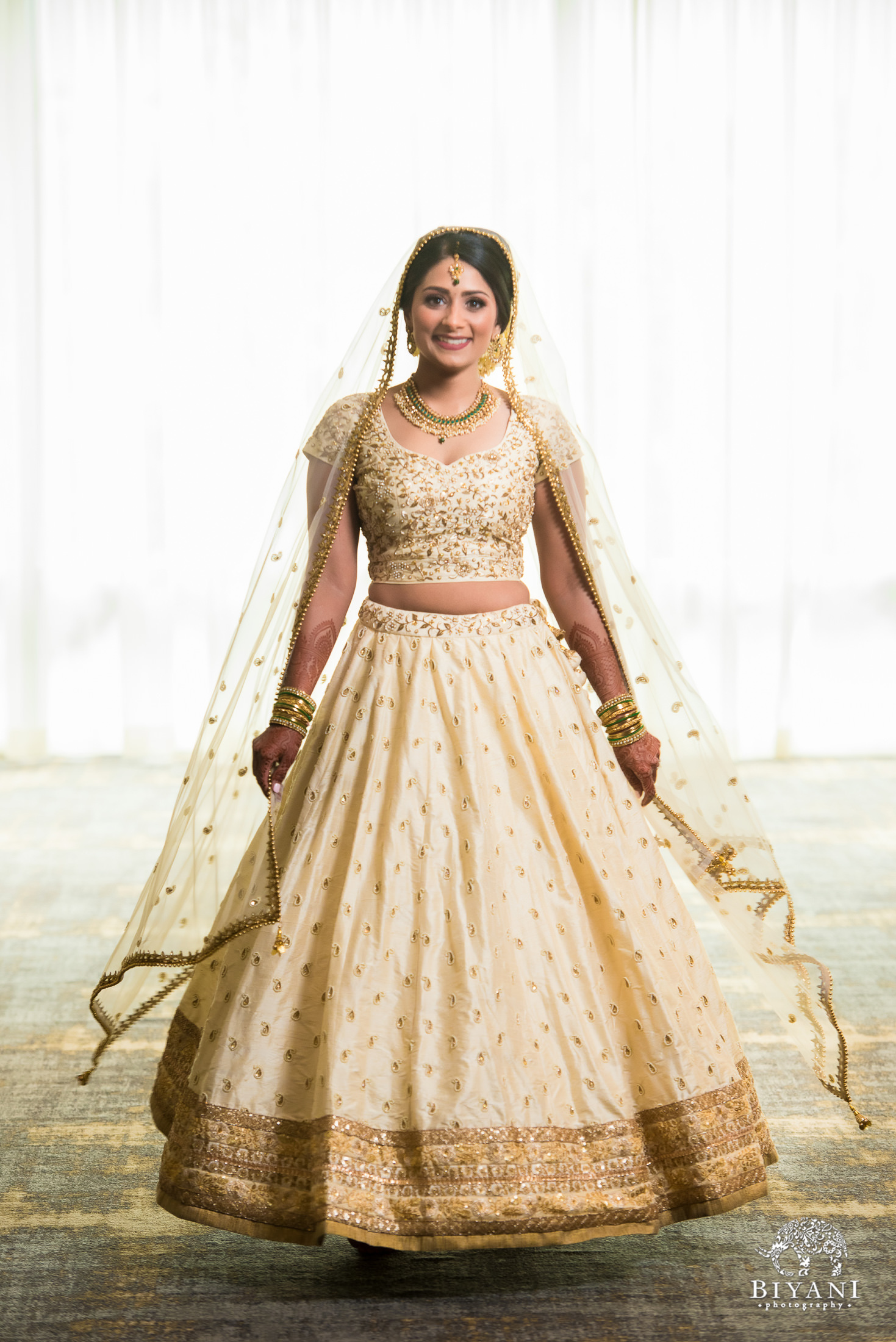 Indian bride in her wedding ceremony outfit