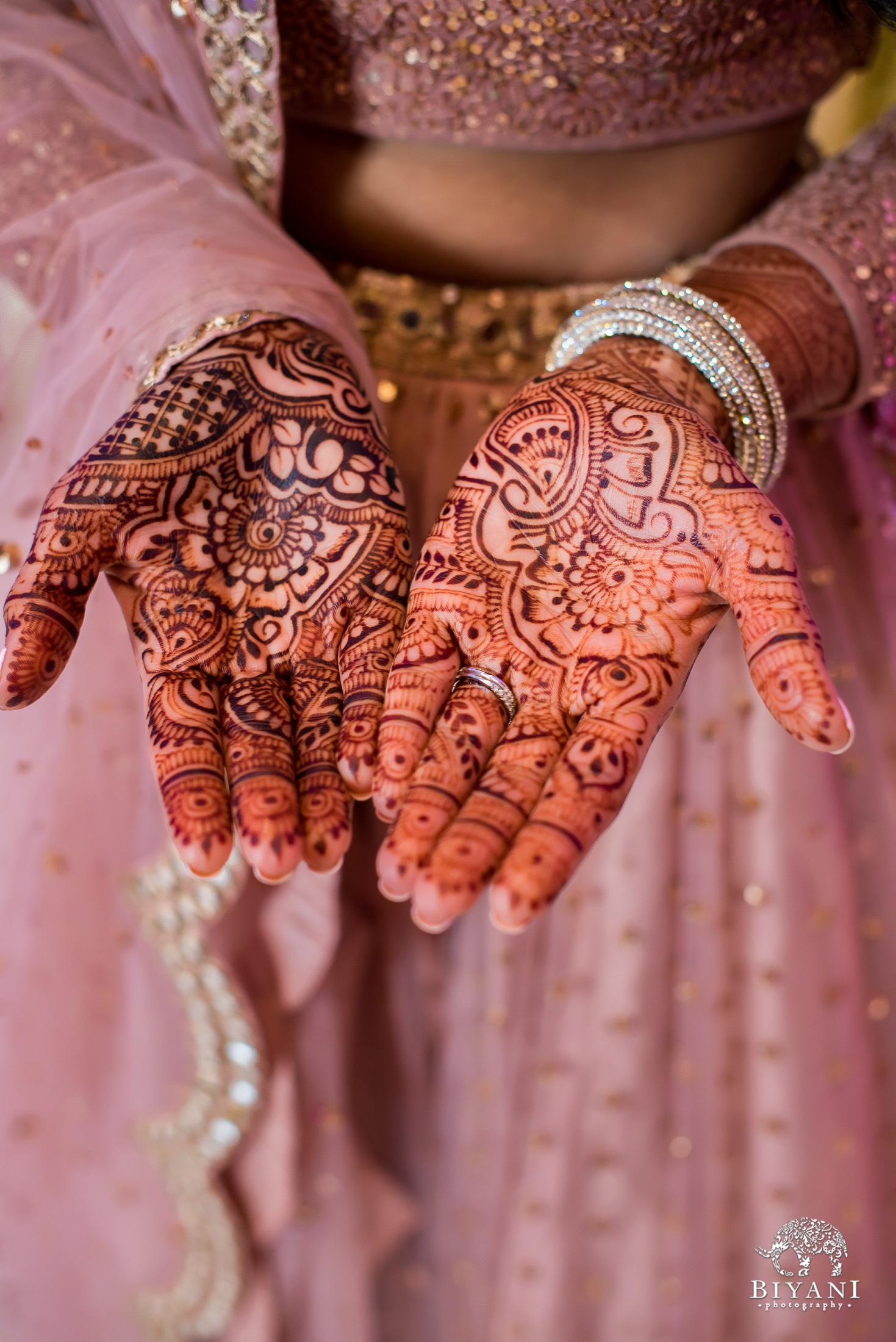Bride's mehndi