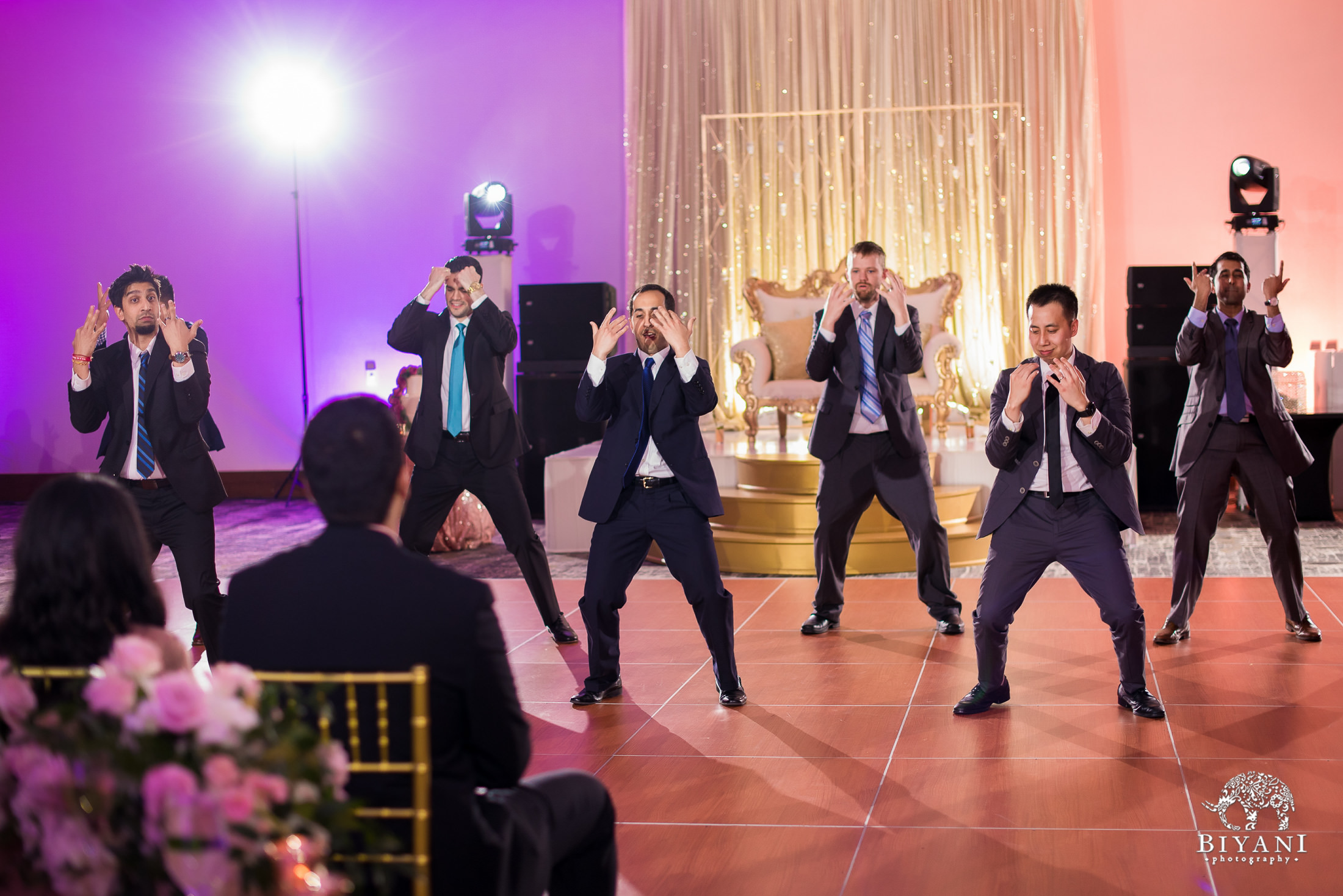 groomsmen dancing choreography for the reception performance