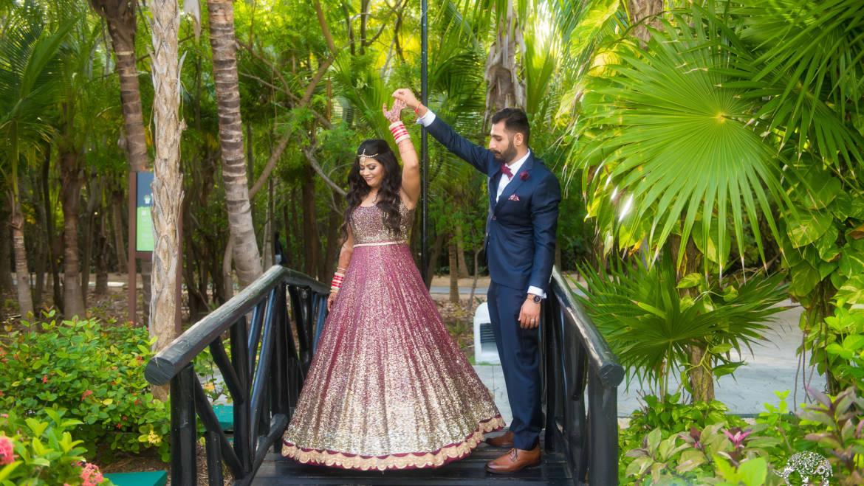 Cancun El Dorado Destination Indian Wedding Photos